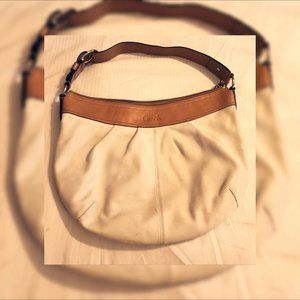 COACH Beige & Tan Hobo Bag - Large